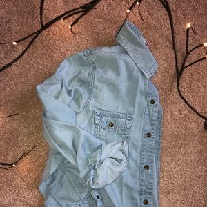 Lightweight Chambray Top